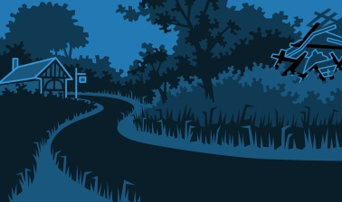 Country Lane - illustration by Rod Lord