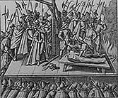 Drawing of the fate of the Gunpowder Plotters