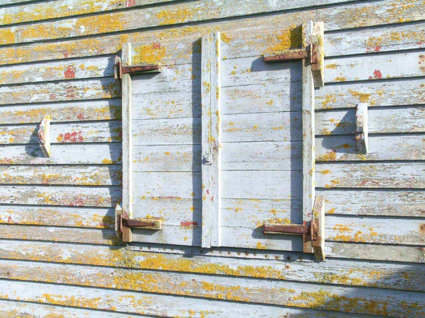 Shutters rusted shut