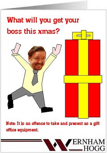bbc - the office corporate christmas card gallery