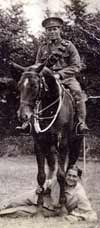 1915 photo of veteran Smiler Marshall on horseback
