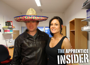 Natasha, The Apprentice Insider and a sombrero...