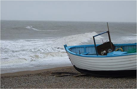 Boat on Dunwich beach