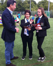 Lord Coe and School reporters