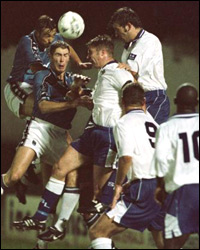 Paul Butler (top right) in the game v Man City