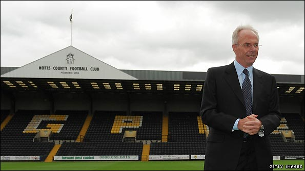 Sven-Goran Eriksson's arrival at Notts County was one of the stories of the summer