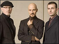 James (l to r: Larry Gott, Tim Booth, Jim Glennie)