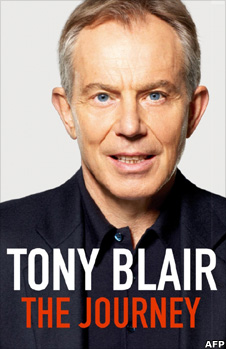 Tony Blair on the cover his autobiography, The Journey