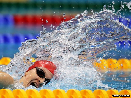 Hannah Russell of Great Britain competes in the Women's 400m Freestyle