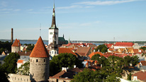 Tallinn skyline in Estonia copyright BBC / Fred Adler.