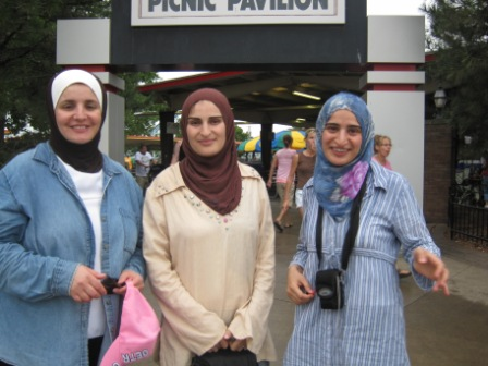 Raghad, Asma, and Eman