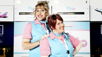"David Walliams and Matt Lucas star in Come Fly With Me, their new ""mockumentary"" series about life in an airport"