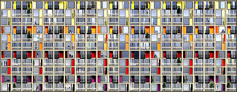 Coloured panes - artist's impression