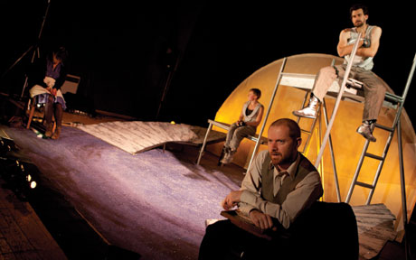 The cast of Hijinx's Ill Met By Moonlight. Photo © Simon Gough Photography