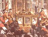 Image of Queen Victoria on her way to the State Opening of Parliament
