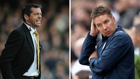 Phil Brown (left) is the new manager at Preston after the sacking of Darren Ferguson.