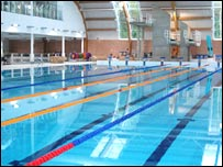 Bbc northamptonshire places corby pool officially opens - How many litres in a swimming pool ...