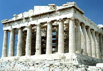 The ruins of the Parthenon