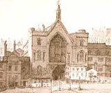 Image of a drawing of New Palace Yard at Westminister