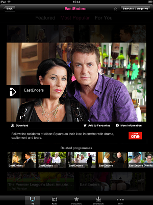 eastenders ipad download