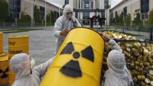 Acto contra la energía nuclear en Alemania