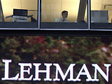 A worker burning the midnight oil to keep Lehman Brothers afloat.