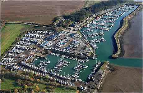BBC - Suffolk - Places - Gallery: River Orwell from the air