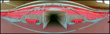 Stadium of Light - the tunnel leading to the pitch