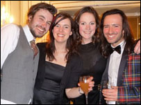 (left to right) Ed fromFriendly Fires, Anna Meredith, Rose Heiney and Aaron Sillis at South Bank Show Awards 2009'