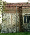 Image of an exterior wall showing blocked window