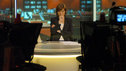 Fiona Bruce on the set of the 10 O'Clock News