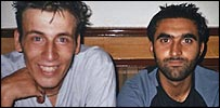 Anthony Garcia (left) and Omar Khyam in Lahore, Pakistan in 2003