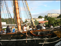 The Amistad moored in Bristol