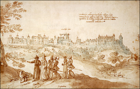 Windsor Castle seen from the North by Joris Hoefnagel - c.1569