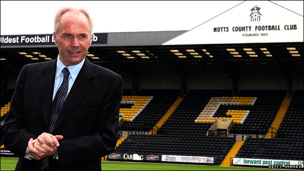 Sven-Goran Eriksson at Meadow Lane