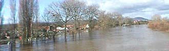 Floods in Upton upon Severn