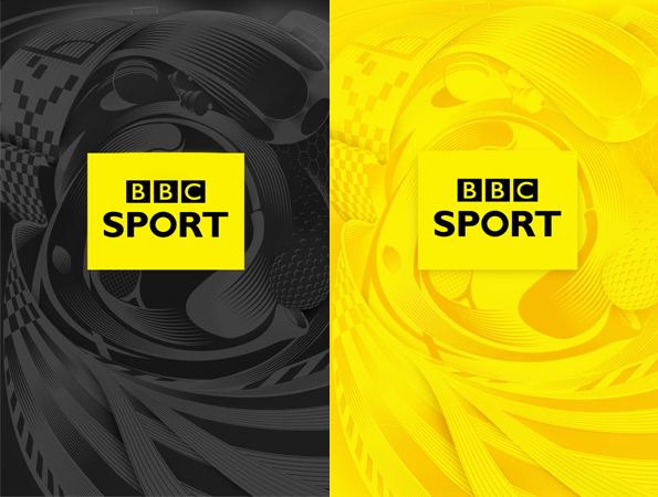 BBC Sport logos within swirling illustrations of different sports
