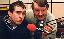Picture: Steve Coogan and Wally Webb.