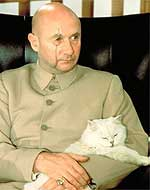 Donald Pleasance as Bond villain Blofeld