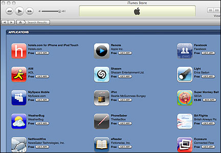 Apple applications store