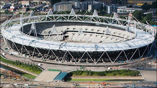 The London Olympic Stadium as of July 2010