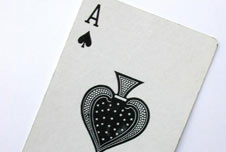 An ace playing card