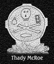 Headstone showing Mortality Symbols, found in the Pubble Graveyard in Co. Fermanagh