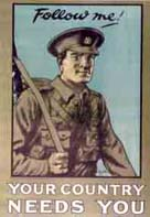 Image of a World War One recruitment poster