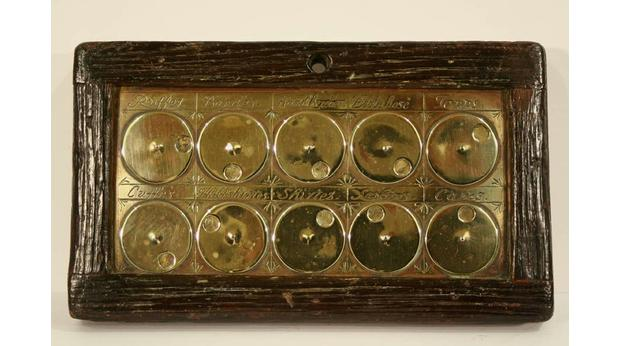 17th century Laundry Tally Board