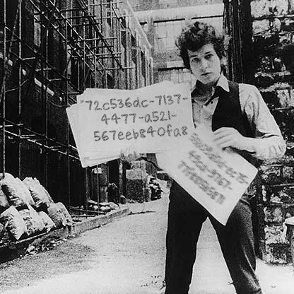 Bob Dylan with his MusicBrainz identifier