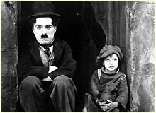 Charlie Chaplin and Jack Coogan in The Kid