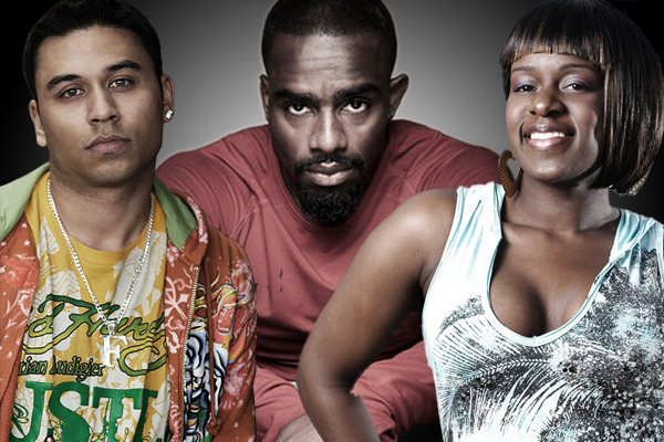 Ricky Norwood, Chucky Venn and Tameka Empson
