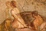 Image of an erotic fresco painting from Pompeii