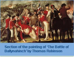 painting of 'The Battle of Ballynahinch' by Thomas Robinson